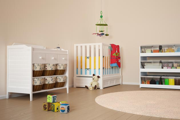 Комната для младенца с игрушками
