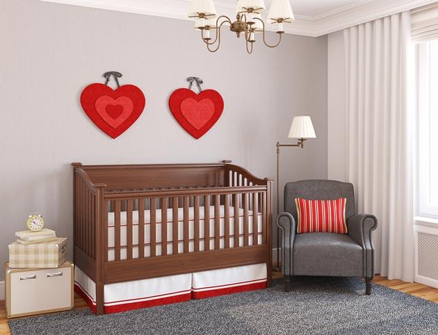 Красивый дизайн детской для новорожденного