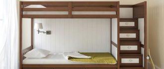 Небольшая детская с двухъярусной кроватью