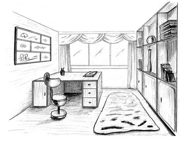 Рабочая зона для ребенка с письменным столом