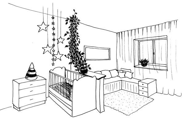 Наброски комнаты для новорожденного