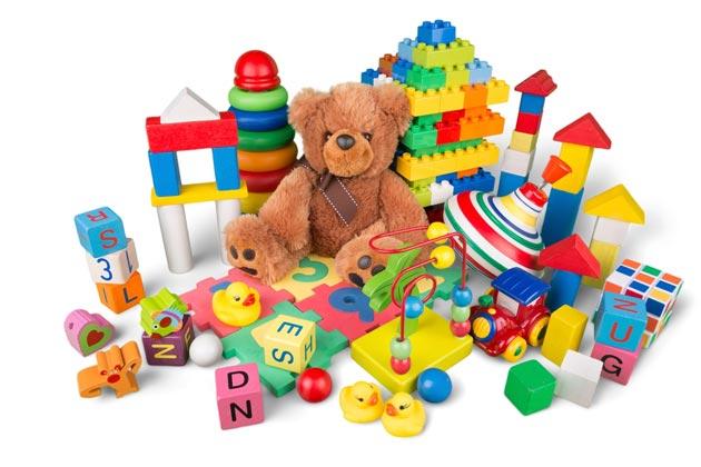 Ассортимент детских игрушек на 2 годика