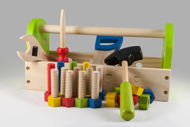 Набор игрушечных строительных инструментов