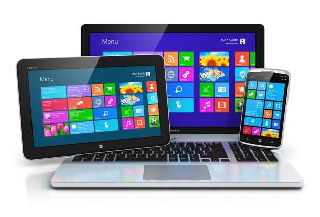 Планшет, ноутбук и смартфон