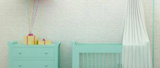 Кроватка в комнате новорожденного