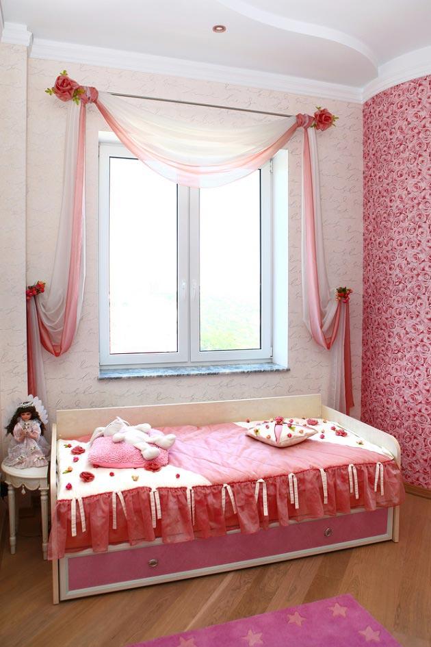 декоративное оформление спального места для маленькой принцессы