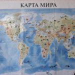Настенная карта мира для малышей