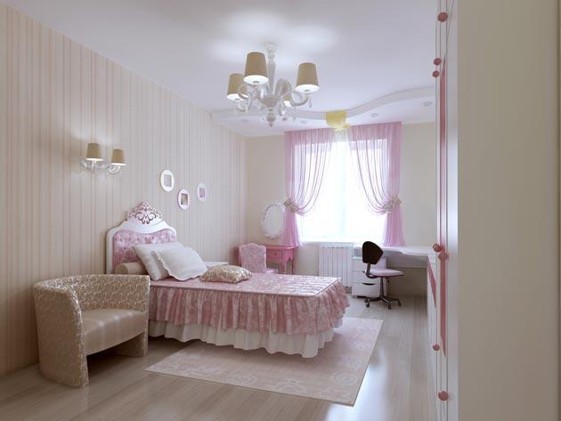 светлый в спальне пастельных оттенков