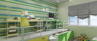 Кровать-подиум с письменным столом наверху