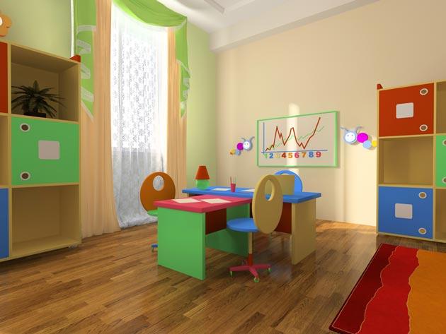 Маркерная доска в комнате школьников