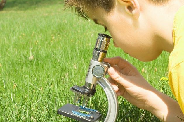 Детский микроскоп как подарок